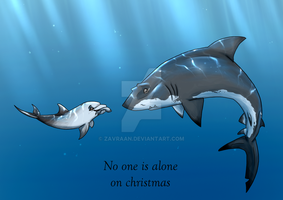 Christmas card - You are not alone by zavraan