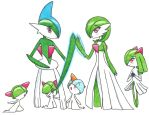 A Pokemon Family (Gardevoir/Gallade/Kirlia/Ralts) by Hahc3Shadow
