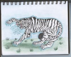 Angry tiger by Spurogirl