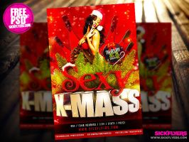 Free Christmas Flyer Template PSD by Industrykidz