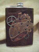 Steampunk Heart Flask by Justenjoyinglife