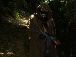 Stalker Cosplay in the woods 3 by Tassadarh