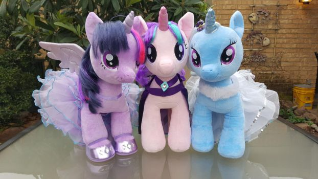 Build a Bear Twilight, Starlight, and Trixie by NeysaNight