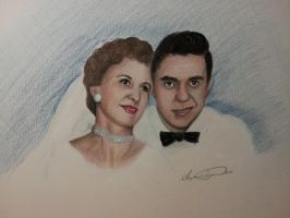 Tom and Nell Wedding Day 1955 by InspiredByYouArt
