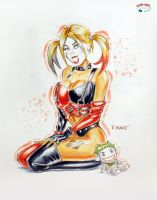 Harley in Copics by RichardHuante