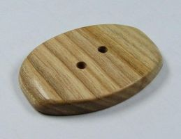 Handmade button made from reclaimed Ash tree by LumberRoom
