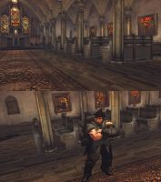 SSFIVAE Cathedral as Training Stage by monkeygigabuster