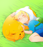 Adventure Time  Sleepy Puppies By Lezombie Kun-d5i by TokiHoti95