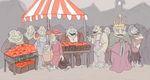 Crowd at the Annual Innsmouth Apple Festival by Mara999