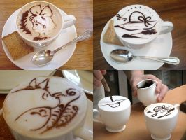 Coffee Art of Studio Ghibli by nicojay