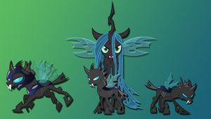 Queen Chrysalis' Changeling Army Wallpaper by Dawn-Sparkle06