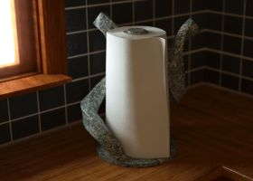 Paper Towel and Custom Holder by LuxXeon