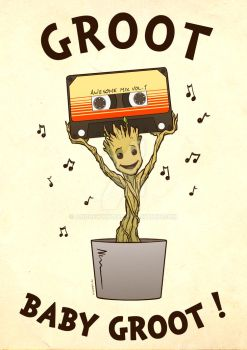 Groot Baby Groot! by AndrewKwan