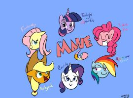 The Mane 6 by MysteryFanBoy718
