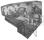 Interior drawing by RhysGriffiths