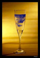blue in the glass by Platonov