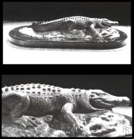 Crocodile, Sculpture by aaronsimscompany