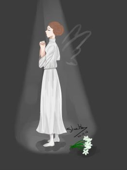 Goodbye Carrie Fisher, a new star in the sky by marina1agathe