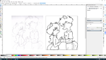 Merenc line art process in Inkscape by TurboDudley