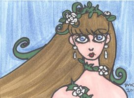 ATC-ACEO Crown of Ivy and Rose by MindOfPain