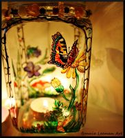 Small Tortoiseshell Butterfly Candle Holder by Bonniemarie