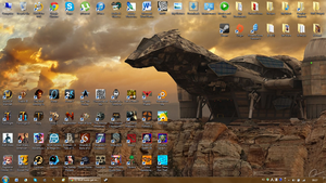 My desktop - Jan 2014 by ruepaw