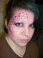Pink Leopard make-up by DeadKoiBunny