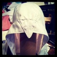 Altair's hood... more difficult than it looks by MerrillsLeather