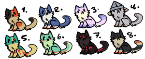 adoptable auction ALL SOLD by captaen