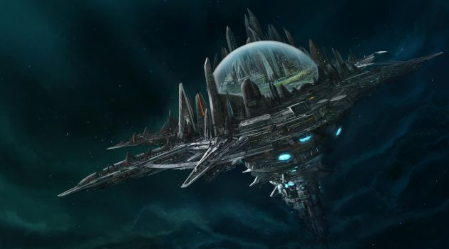 Paizo's Starfinder - Absolom station by Tryingtofly