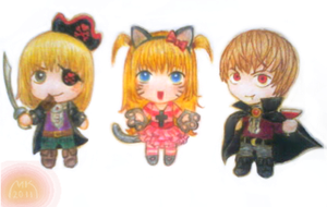 DeathNote Halloween Chibi by xmallory08