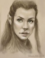 Evangeline Lilly.The hobbit.Tauriel by Knesya27
