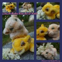 5 Inch Baby Simba And Nala by DoloAndElectrik