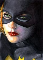 Batgirl Sketch Card 5 by veripwolf