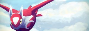 Latias - roaming the sky by lazyperson202