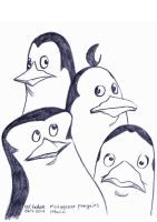 Daily Sketches Penguins of Madagascar by fedde
