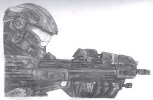 Halo Reach Spartan Shaded by KonanzXD