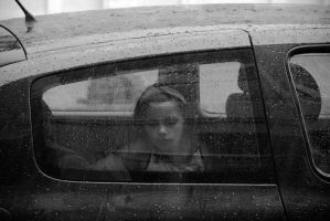 Framed in car by Badulescu