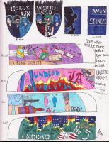 Hollywood Undead Shoe Design by MissLey