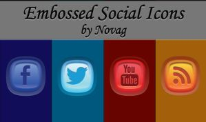 Embossed Social Icons by Nova-G