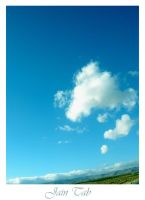 blue sky white k by jaintab