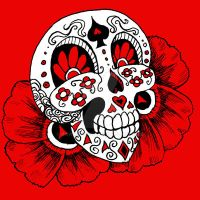 candy skull graphic 2 by rawjawbone