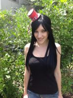 Red and Black Mini Top Hat by ChibiEricka