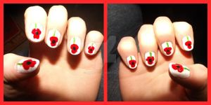 poppy nails for remembrance sunday by ARAart