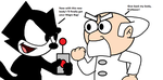Felix and Professor with switched bodies by MarcosLucky96