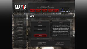 Mafia Game login v1 by Kinetic9074
