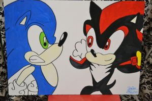Sonic and Shadow poster by ShadowsLilHoexx