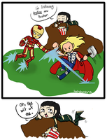 AVENGERS :They Fell For It: by oddlittleleaf