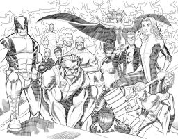 Marvel Double page splash by JordanMichaelJohnson