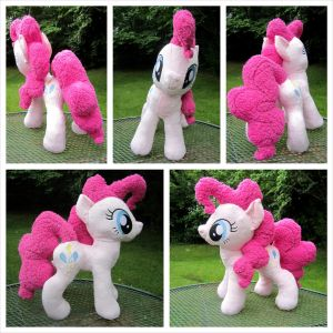 Prancing Pinkie Pie Plush by equinepalette